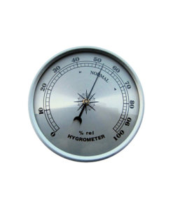 Fitup Silver Hygrometer Silver 90mm - HY90S